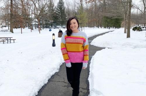 Pink-Orange-Striped-Sweater