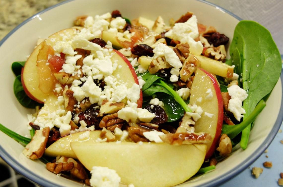 Apple-Pecan-Feta-Salad