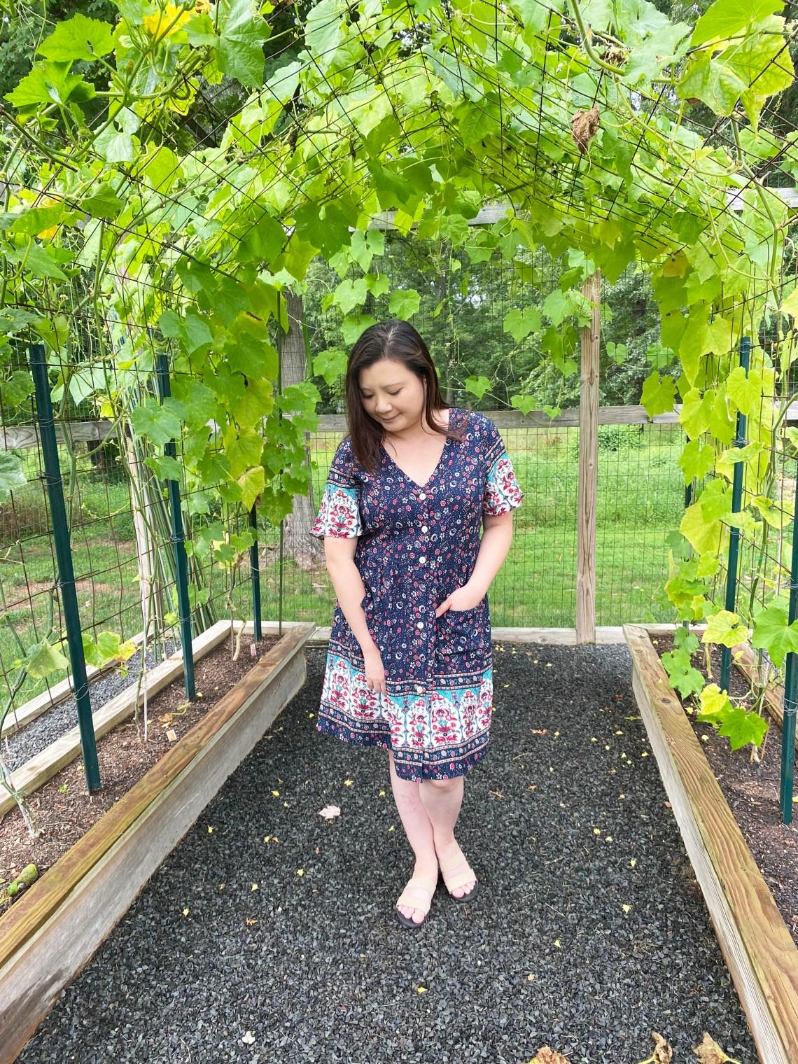 Bohemian-Summer-V-Neck-Dress