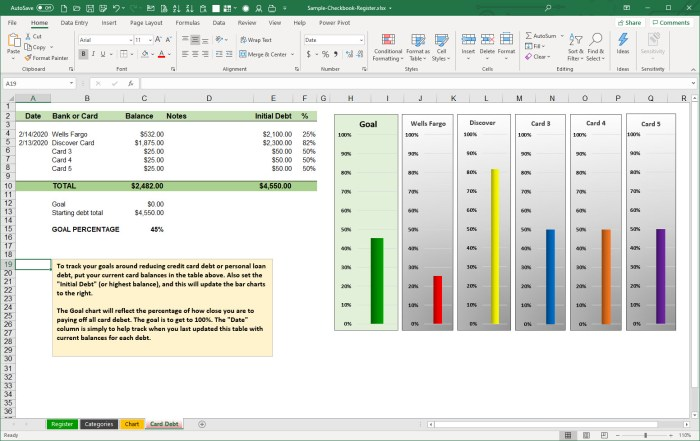 A Better Microsoft Excel Checkbook Register Part 3 Life After 40