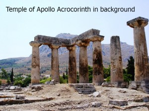 2014 Temple of Apollo with Acrocorinth in background by Leon Mardin