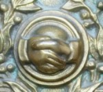 LDS temple doorplate-handclasp 2
