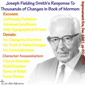Joseph Fielding Smith's Response BoM Changes