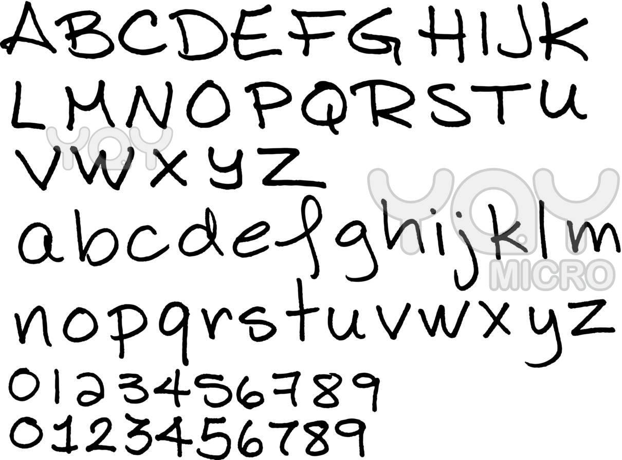 hand writing serif font