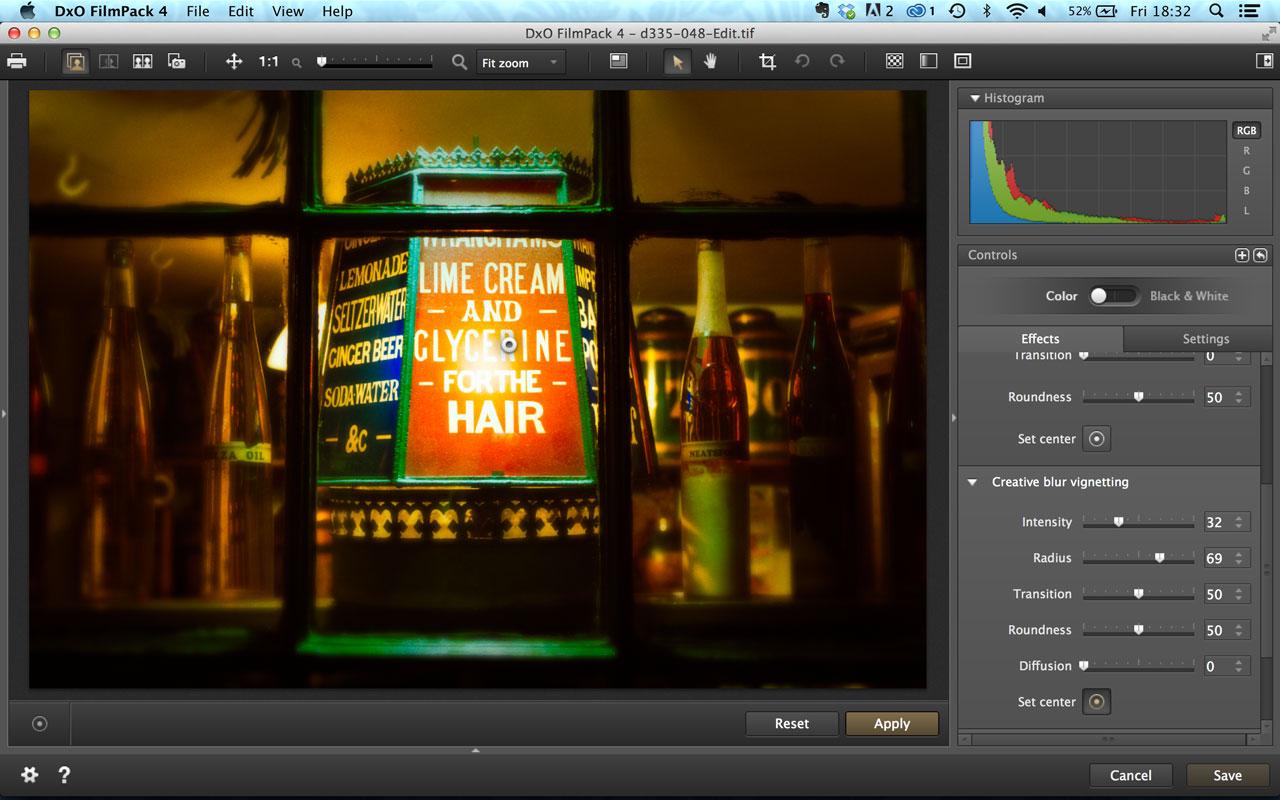 DxO FilmPack 4 vignette effects
