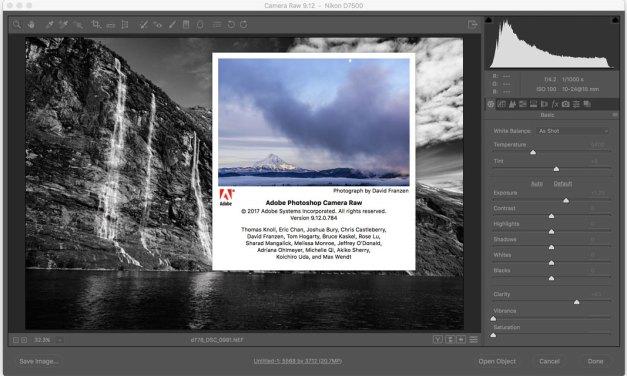 Adobe Camera Raw 9.12 and Lightroom update
