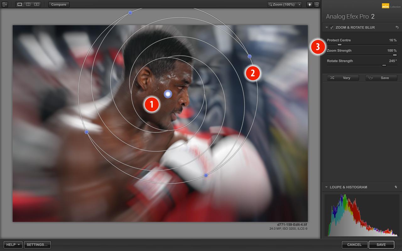 Analog Efex Pro zoom blur