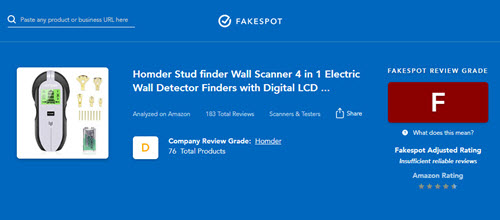 Fakespot is good at detecting fake online reviews