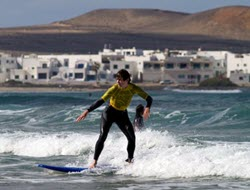 Learning to surf in Famara