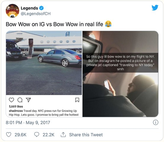 Comparison is the thief of joy - rapper Bow Wow rumbled