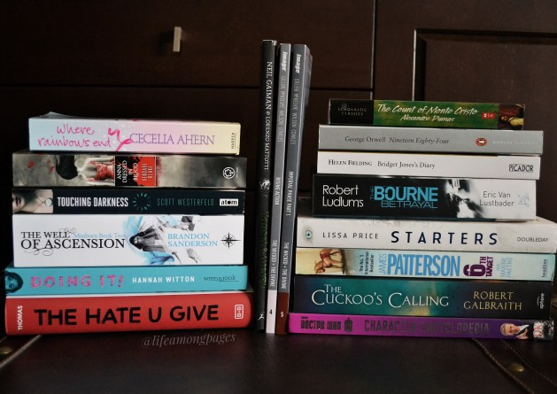 Mid year book haul, all the book I bought from january 2017 to June 2017