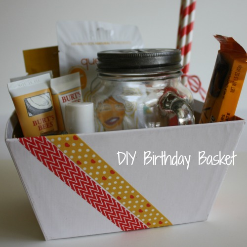 diy birthday basket gift