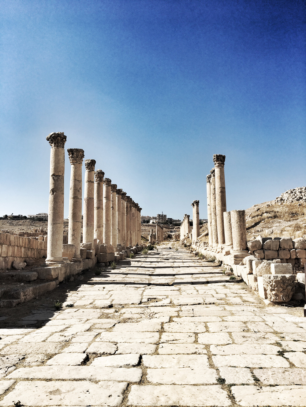 The 600m Cardo / Colonnaded Street where vendors would set up shop and key buildings would have been located