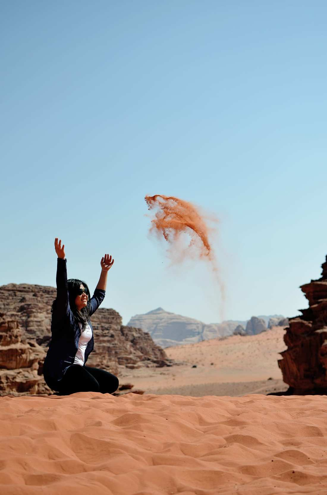 A trip to Jordan isn't complete without booking a Wadi Rum camping trip and settling down in bubble tents after a full day Wadi Rum tour! Surprisingly there was no sandy blowback. This is my favourite picture I'd say!