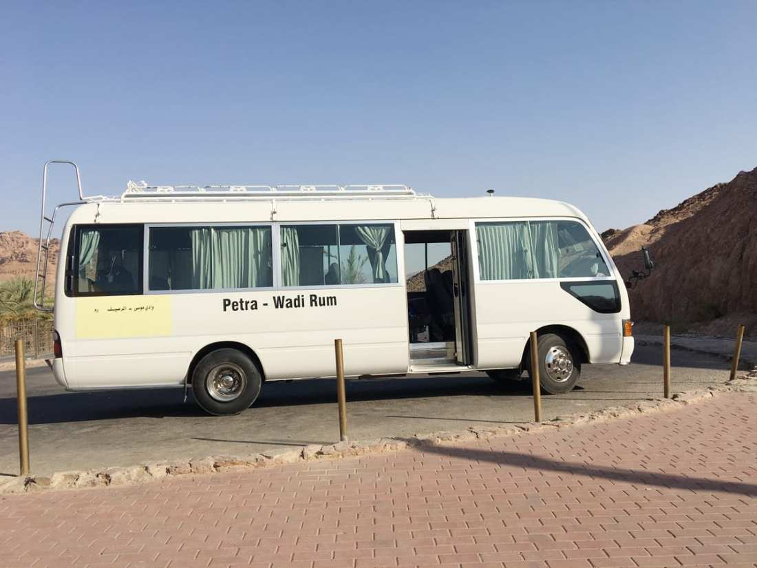 The Tourist Bus from Petra to Wadi Rum. Visiting Petra, the ancient Rose City, and a UNESCO World Heritage site should be on every Jordan travel itinerary and here's a guide to help