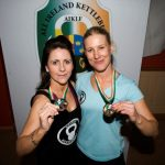 Maggie Duff bronze in 12kg Long Cycle discipline and Sarah Smith gold in 24kg Long Cycle discipline club coach and director
