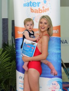 Model Pippa O'Connor was on hand with her Baby Ollie to help launch  WATER BABIES SUMMER SAFETY CAMPAIGN  KEEP YOUR KIDS SAFE NEAR WATER THIS SUMMER ! Pictures Declan Masterson Photography