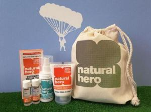 Natural Hero, a range of natural skincare recovery products