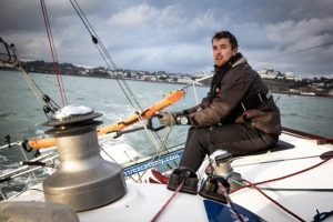 Andrew Baker solo sailing