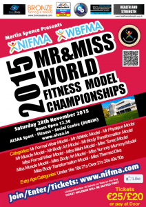 3 Weeks to NIFMA Mr & Miss World Fitness Model Championships 