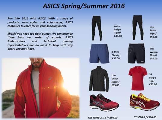asics mens spring summer 2016