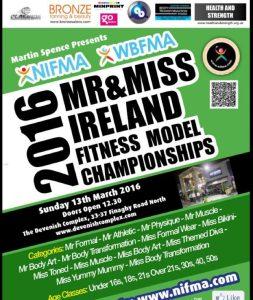 6 Weeks to 2016 NIFMA Mr & Miss Ireland Fitness Model Championships
