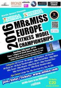 7 Weeks to NIFMA Mr & Miss Europe Fitness Model Championships