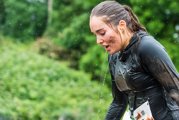 Roz Purcell taking part in the Tough Mudder Ireland event in 2016