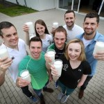 Pictured at a press event to celebrate World Milk Day taking place on 1st June are top Irish athletes L-R: Irish Boxer Darren O'Neill, Dr Sharon Madigan, Sport Ireland Institute, Ciara Mageean, Irish runner, Ollie Dingley, Rower, Dave Kearney, Irish International rugby player, Kellie Harrngton, boxer, Ellen Keane, Paralympic Swimmer, Zoe Kavanagh, CEO, National Dairy Council and Rob Kerney, International Rugby Player.