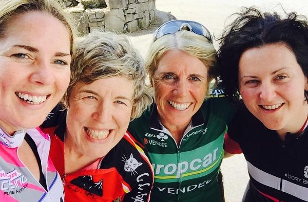 Galway Baybes in Connemara after 24 hours of Race Training last weekend L-R Joanne, Karen, Marie & Brid
