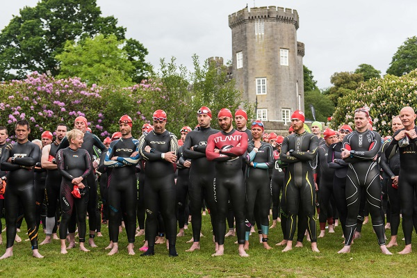 Lough Cutra Castle Triathlon in Galway awarded a hat-trick of qualifying races: National Series, National Mixed Relay Championships & Super Series Races in 2018. Photo Credit : Clearskiesahead.com