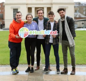 Karl Henry, student Pia McElligott, Chef Adrian Martin, student Sean Probert and Eoghan McDermott