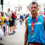 Judge Craig Mitchell, star of inspirational documentary Skid Row Marathon, completes his 74th marathon in London at the age of 62
