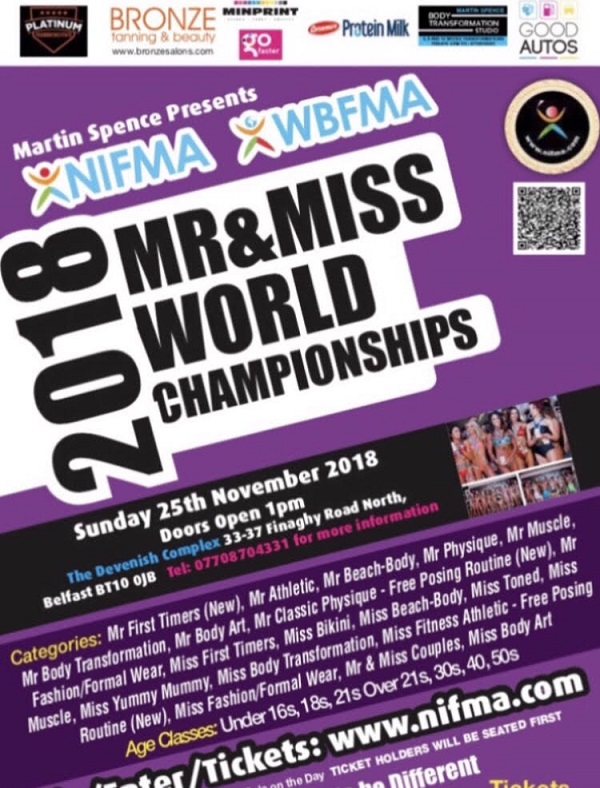2018 NIFMA Mr & Miss World Fitness Model Championships