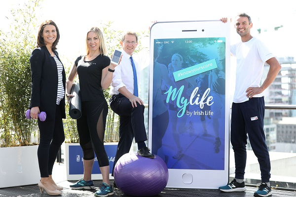 Pictured at the launch (L-R) are Dr Sarah Kelly, Kathryn Thomas, Professor Niall Moyna and Olympic Athlete Thomas Barr, ambassadors for the MyLife launch campaign. JULIEN BEHAL PHOTOGRAPHY.