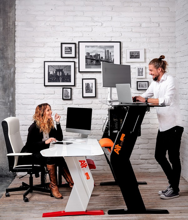 new revolutionary smart desk helps office workers live a healthier life, be it at home or at their workplace