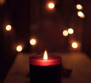You are the candle burning softly