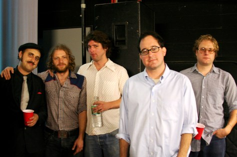The Hold Steady Backstage at Columbia University