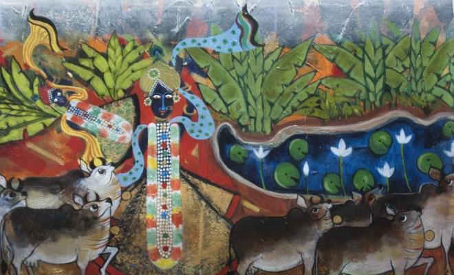 Artist Ashok Hazra portrays Srinathji form of Krishna to evoke peace and harmony