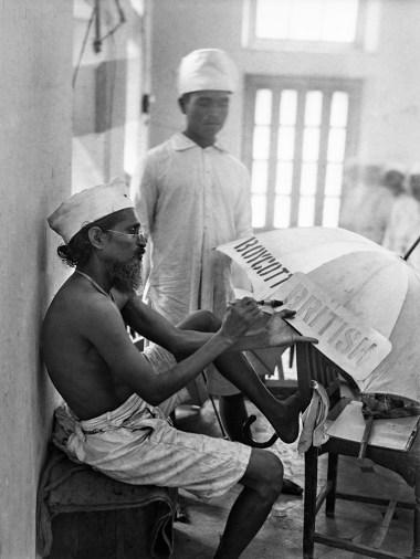 Vorbereitung für die Boykottwoche, Bombay, Indien, 1930