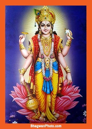 Vishnu as the Person of Holy Christ Self (in the words of Goddess Lakshmi)