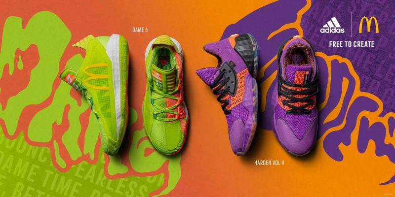 Adidas-McDonald's Sauce Pack sneakers
