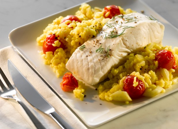 Halibut Fillet with Saffron Infused Rice, post