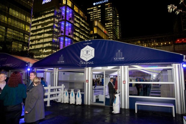 Ice Rink Canary Wharf Launch Night