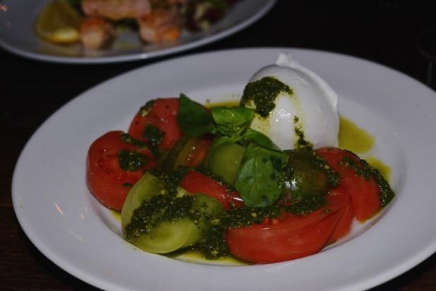 Caprese bufala mozzarella, heritage tomatoes, pesto, extra virgin olive oil & natural sea salt