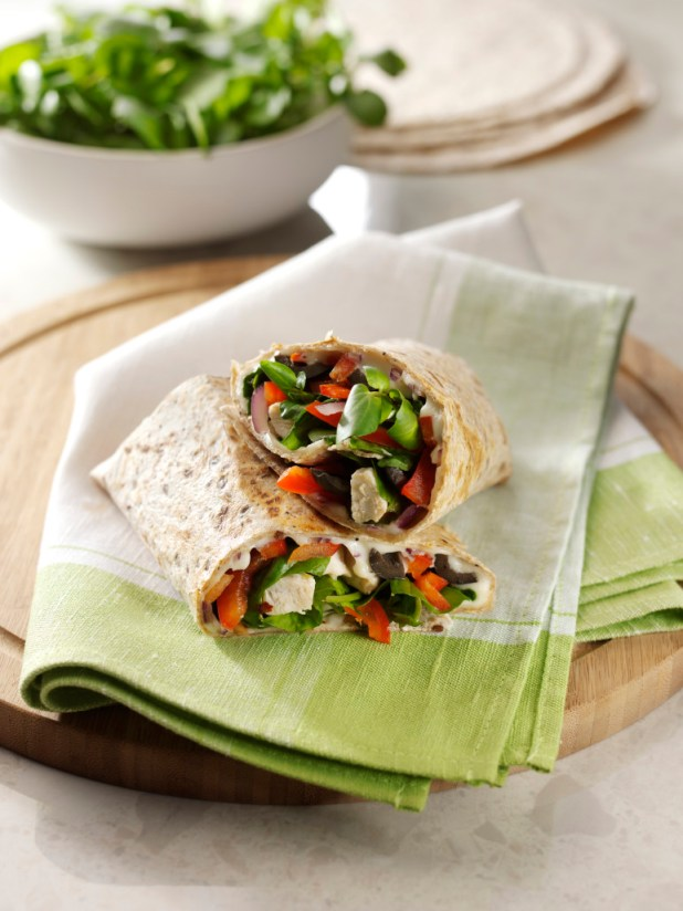 The Ultimate On-the-Go Snack Chicken, Watercress and Mozzarella Wrap
