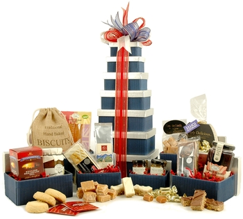 www.Lifeandsoullifestyle.com - Festive Hampers - british hamper tower
