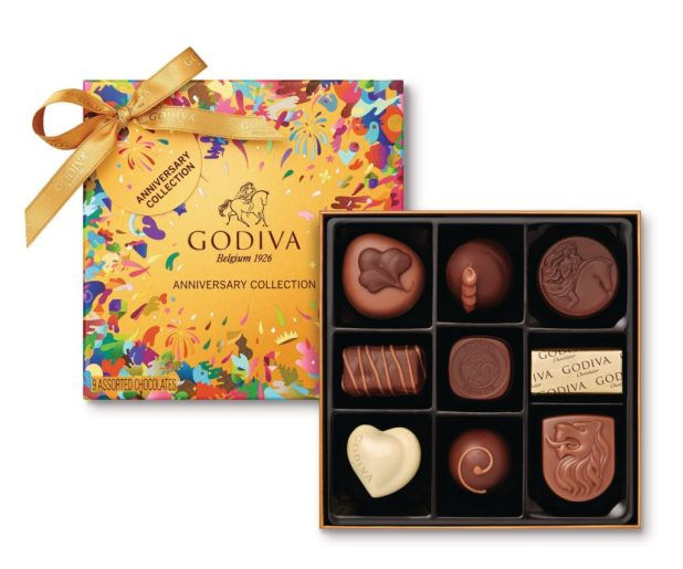 GODIVA Celebrates 90 Years With Limited Edition Gold Anniversary Collection With Packaging Designed By Artist Oli-B (PRNewsFoto/GODIVA Chocolatier)