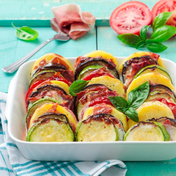 www.lifeandsoullifestyle.com - Vegetable gratin with Parma Ham recipe
