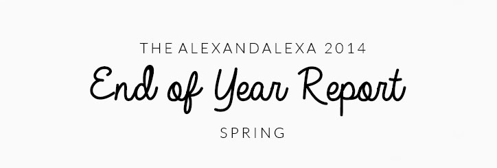 The AlexandAlexa End of Year Report: A Look Back at Spring